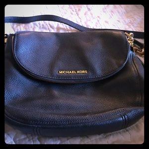 Michael Kors Navy Pebble Leather